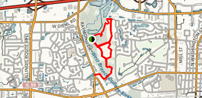 McDowell Grove Forest Preserve Map