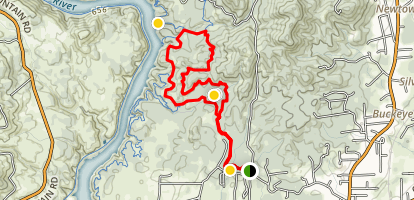 Hornbeck Trail and Lower Sacramento Ditch Trail Map