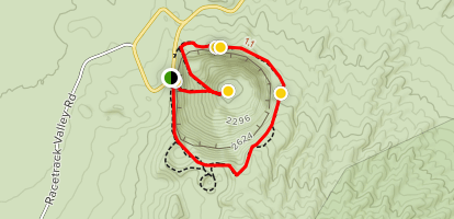 Ubehebe and Little Hebe Crater Trail Map