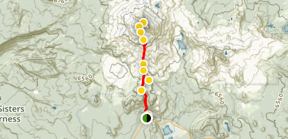 South Sister Summit Map