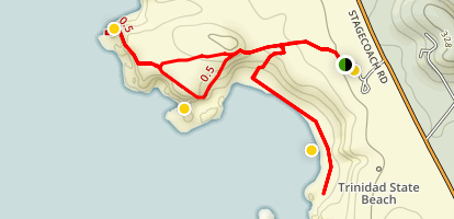 Trinidad State Beach and College Cove Map