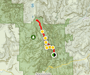 West Rim Trail to Lava Point (CLOSED) Map
