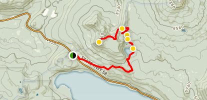 Rosary Lakes Trail Map