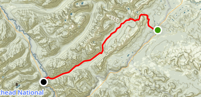 Firebrand Trail to Ole Creek Map