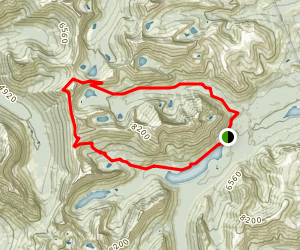 Dawson Pass and Pitamakan Pass Loop Map
