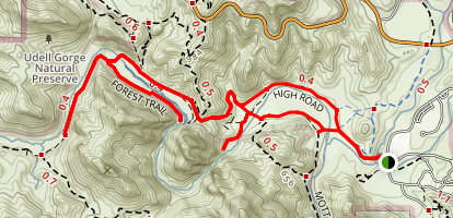 Rock Pool and Century Lake Trails Map