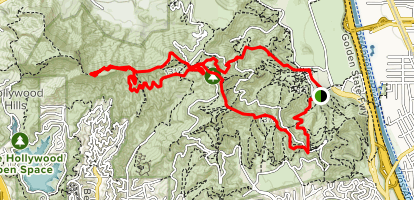 Griffith Park Hollywood Sign Trail Map