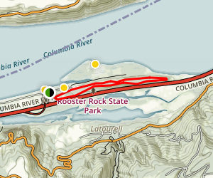 Rooster Rock State Park Loop Trail Map