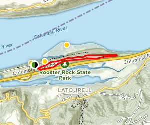 Rooster Rock State Park Loop Trail (CLOSED) Map