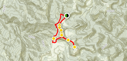 North and South Tent Mountain Loop Trail Map