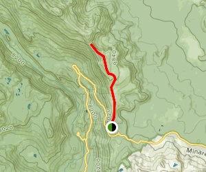 Minaret Summit Ridge to Deadman Pass Map