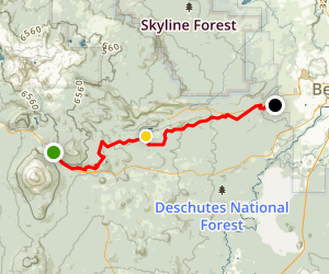 Mt. Bachelor to Bend Mountain Bike Ride Map