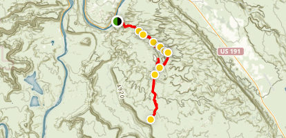 Pritchett Canyon 4x4 Trail Map