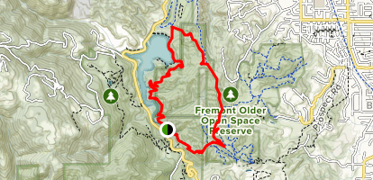 Tony Look Trail to Coyote Ridge to Lookout Trail Loop Map