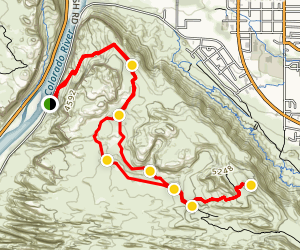 Moab Rim Trail Map