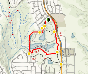 Lema Ranch Trails - Leah's Loop and Secluded Loop Map