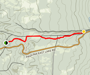 Paulina Creek Falls Trail Map