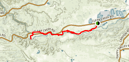 Clear Creek Greenway Trail Map