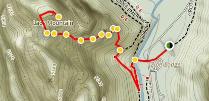Lady Mountain Trail Map