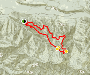 Olallie Mountain Bike Loop Map