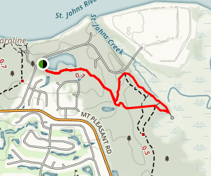 Spainish Pond Loop Trail Map