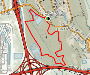 University of Northern Florida Loop Trail Map
