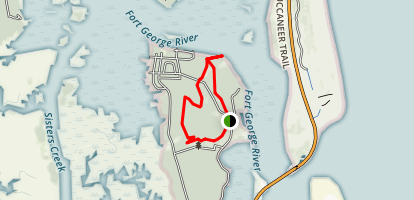 Fort George Island Trail Map