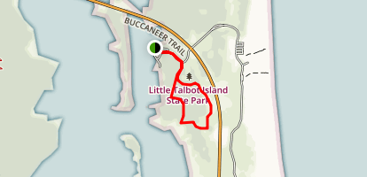 Nature Loop at Little Talbot Island Map