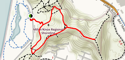 Scenic Loop to East Vista Point Map