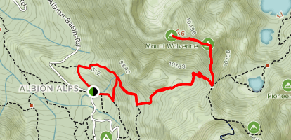 Mount Wolverine via Catherine Pass Trail Map