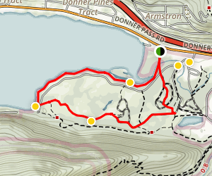 China Cove Trail at Donner Lake Map