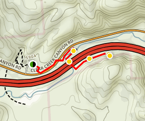 Cave of 100 Hands Trail Map