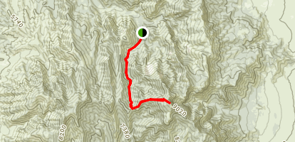 Fool Creek Peak Trail Map