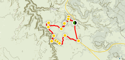 Flat Iron Mesa 4x4 Trail Map