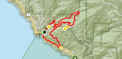 Tanbark Trail and Tin House [CLOSED] Map