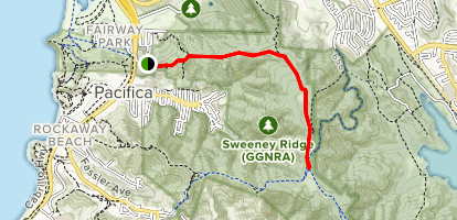 Sweeney Ridge Trail via Mori Ridge Map