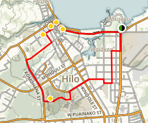 Hilo Cultural Tour  Map