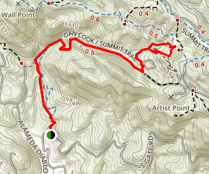 Summit Trail to Rock City and Sentinel Rock Map