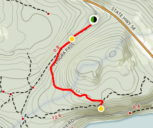 Gold Lake Snow Park to Odell Lake Viewpoint Map