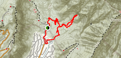 Naniuapo Falls Trail Map