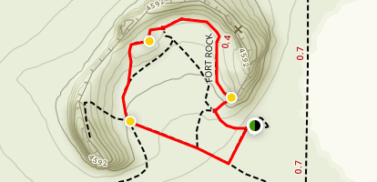 Fort Rock Loop Map