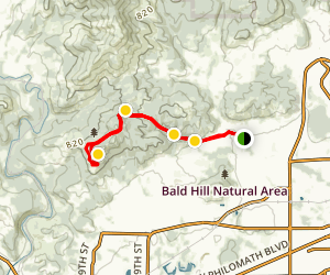 Fitton Green Trail to Allen Throop Loop Map
