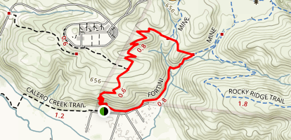 Stile Ranch and Fortini Loop Map