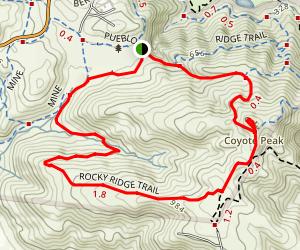 Coyote Peak and Ridge Trail Loop Map