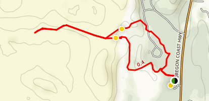 Umpqua Dunes Scenic Area Loop Map