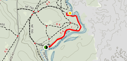 Deschutes River Trail (Aspen to Big Eddy) Map