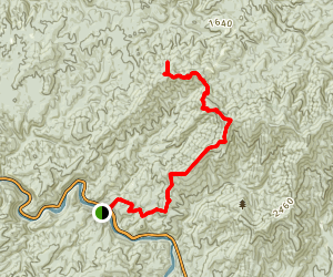 Benton MacKaye Trail - Thunder Rock Campground to Kimsey Mountain Hwy  Map