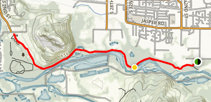 Middle Fork Willamette Path from Clearwater Park Map