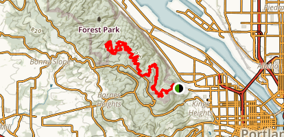Aspen Trail to Rocking Chair Dam Map