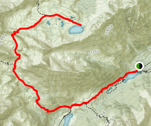 Maroon-Snowmass Trail to Willow Lake Map